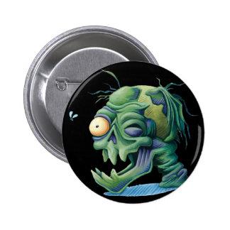 Decomposing Skull Button Pinback Button