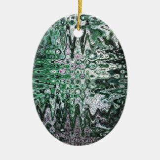 Deconstructed Alder Art Ceramic Ornament