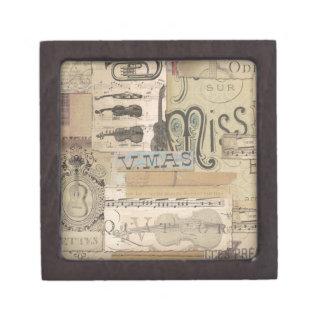 Decopauge Music Jewelry Box