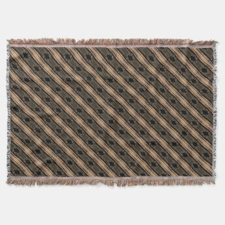 Decor Blanket Khaki Black Pattern Throw