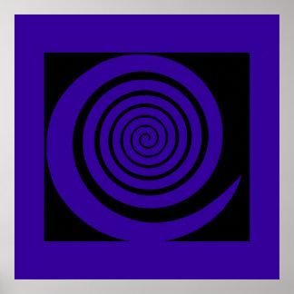 décor hipnótico espiral de la impresión póster