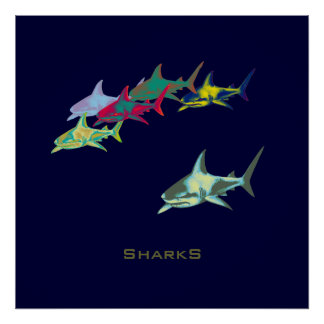 decor shark prints
