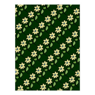 décor walls flower patterning poster