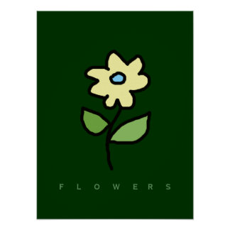 décor walls with flowers poster