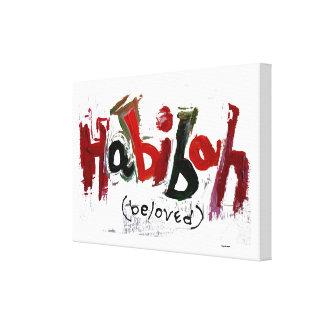 """Decoración abstracta de """"Habibah"""" Impresiones En Lona"""