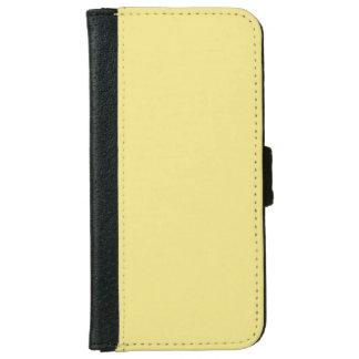 Decoración amarilla en colores pastel suave lista carcasa de iPhone 6