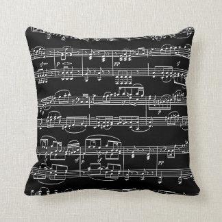 decoración-artículo negro música-temático cojín