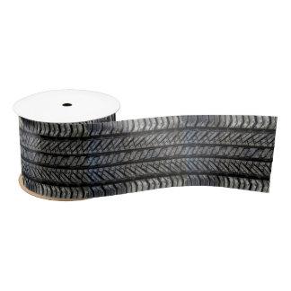 Decoración automotriz de goma de la textura del lazo de raso