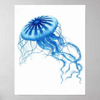 Decoración azul de la playa de la impresión No.3 d Impresiones