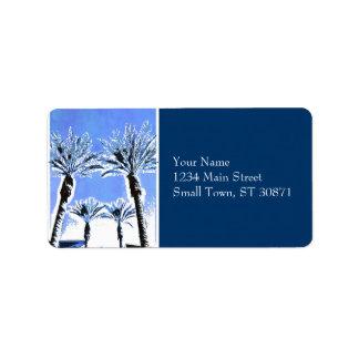 Decoración azul fresca del tema de la playa del pa etiquetas de dirección
