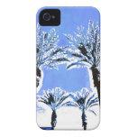 Decoración azul fresca del tema de la playa del pa iPhone 4 fundas