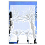 Decoración azul fresca del tema de la playa del pa pizarras blancas