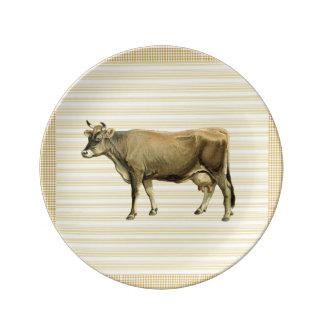 Decoración beige del control de la guinga de la platos de cerámica