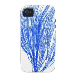 Decoración botánica costera de no. 2 azules de la  Case-Mate iPhone 4 funda