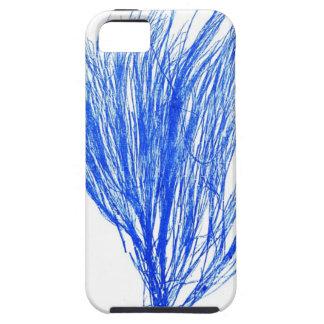 Decoración botánica costera de no. 2 azules de la  iPhone 5 funda