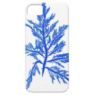 Decoración botánica costera de no. 7 azules de la  iPhone 5 Case-Mate cobertura