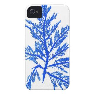 Decoración botánica costera de no. 7 azules de la  Case-Mate iPhone 4 carcasas