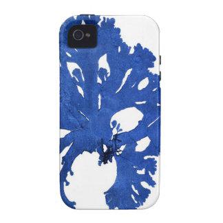 Decoración botánica costera de no. 9 azules de la  iPhone 4/4S carcasas