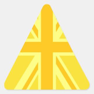 Decoración británica amarilla soleada de la pegatina triangular