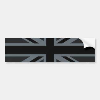 Decoración británica negra de la bandera de Union Pegatina Para Auto