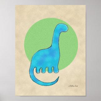 Decoración Brontosaurs del bebé del arte del Póster