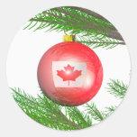 Decoración canadiense del árbol de navidad pegatinas