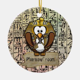 Decoración casera de Pharaowl Adorno Navideño Redondo De Cerámica