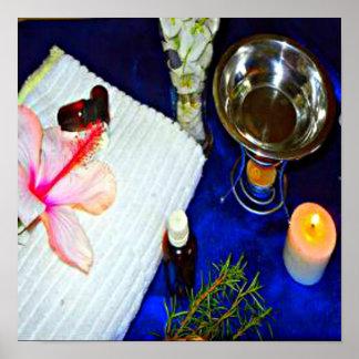 decoración casera del aromatherapy de tensión del  póster