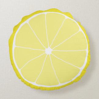 Decoración casera del limón, almohada del limón de cojín redondo