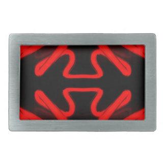 Decoración casera moderna de las flechas de neón r hebilla cinturón rectangular