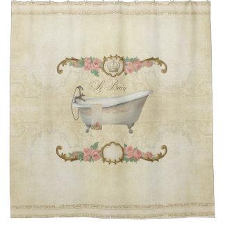 Decoración casera subió baño de Parchment Le Bain Cortina De Baño