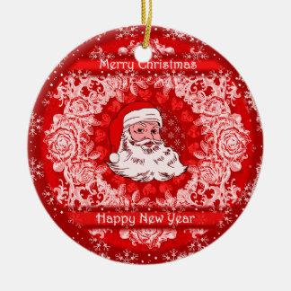 Decoración colgante del árbol de Santa del navidad Adorno Navideño Redondo De Cerámica