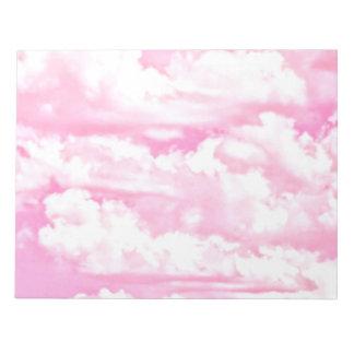 Decoración color de rosa feliz suave de las nubes blocs de papel