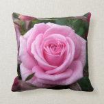 Decoración color de rosa rosada personalizada almo almohadas