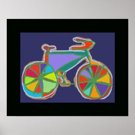 decoración colorida de la bici/de la pared de las póster