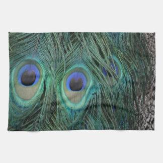 Decoración colorida del Peafowl Toallas De Cocina