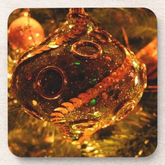 Decoración con lentejuelas del navidad; Felices Posavasos De Bebida
