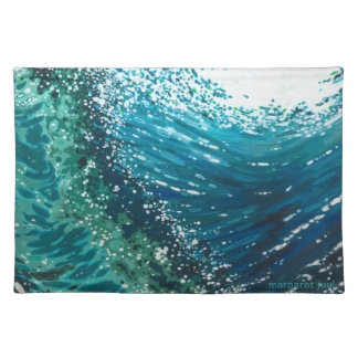 Decoración costera Placemat de la onda de Margaret Mantel