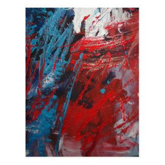 Decoración creativa del arte abstracto tarjetas postales