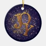 Decoración cristiana del navidad de la alegría ornamentos de reyes