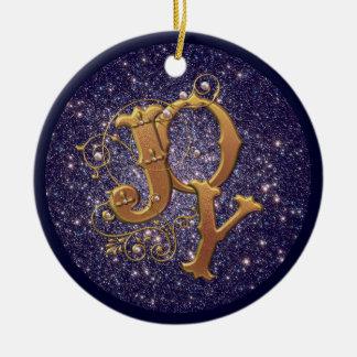 Decoración cristiana del navidad de la alegría adorno navideño redondo de cerámica
