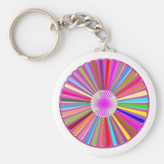 Decoración curativa colorida redonda de Goodluck Llavero Personalizado