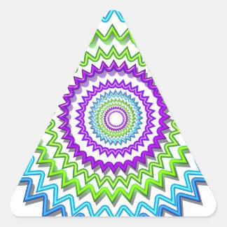 Decoración curativa de la chispa de neón redonda pegatinas trianguloes
