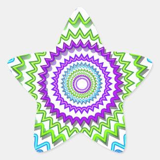 Decoración curativa de la chispa de neón redonda colcomanias forma de estrellaes
