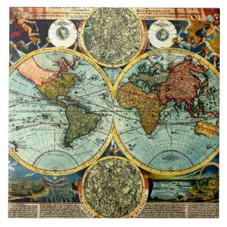 Decoración de cerámica de la pared del mapa del mu azulejo cerámica