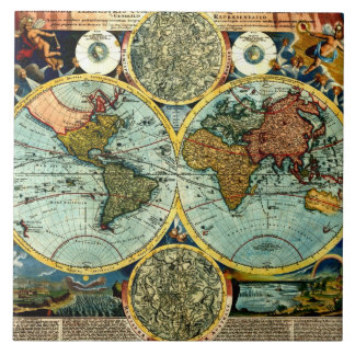 Decoración de cerámica de la pared del mapa del mu azulejo cuadrado grande
