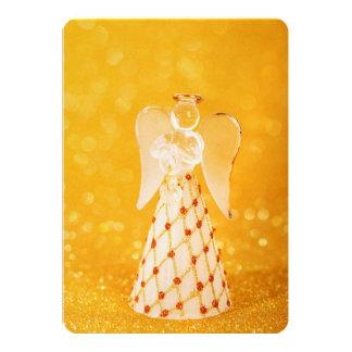 Decoración de cristal del navidad del ángel invitación