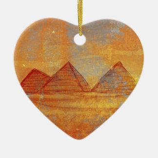 Decoración de Giza de las pirámides Adorno Navideño De Cerámica En Forma De Corazón