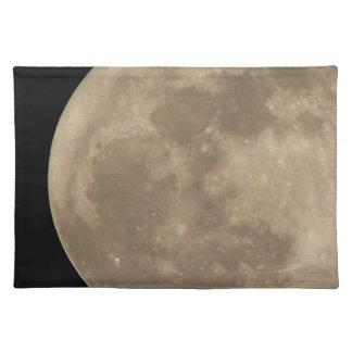 Decoración de la astronomía de la Luna Llena del p Manteles Individuales