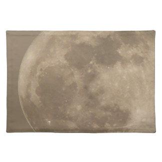 Decoración de la astronomía de la Luna Llena del p Manteles
